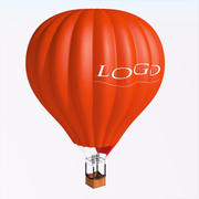 Hot Air Balloon v01 3d model