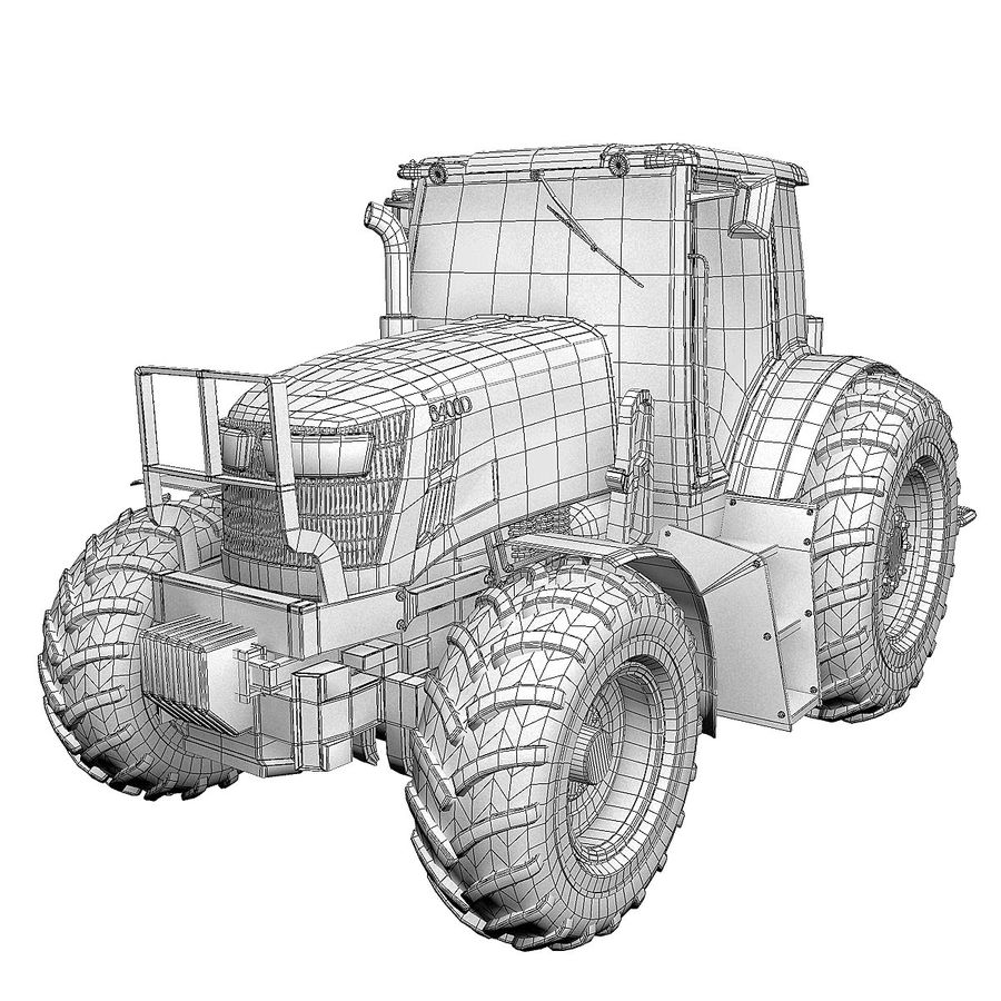 Tractor 3D Model $49 -  obj  dxf  dwg  3ds  max - Free3D