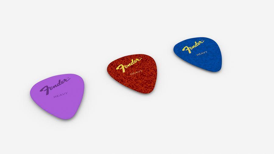 Guitar Pick royalty-free 3d model - Preview no. 3