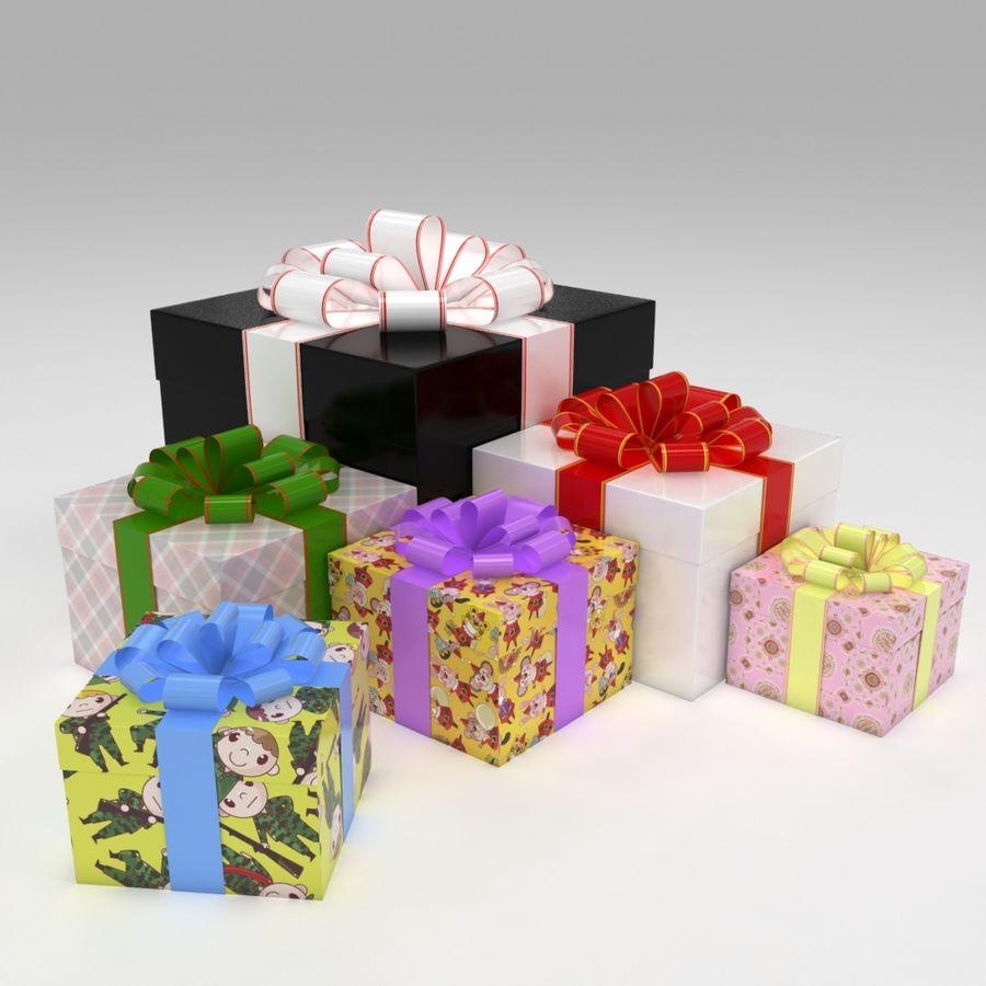 Geschenkbox royalty-free 3d model - Preview no. 1