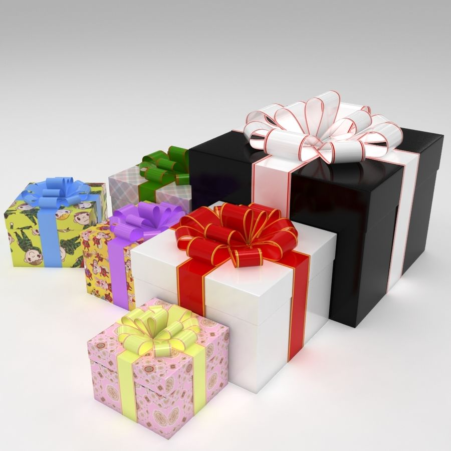 Geschenkbox royalty-free 3d model - Preview no. 2