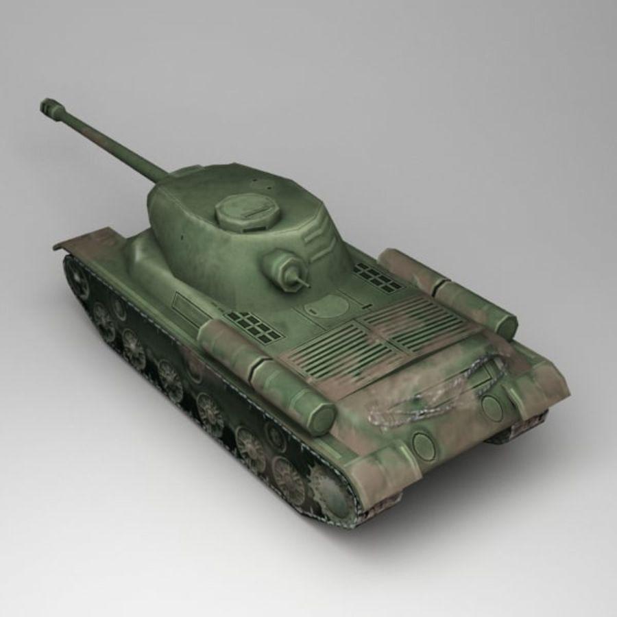 坦克低聚 royalty-free 3d model - Preview no. 2
