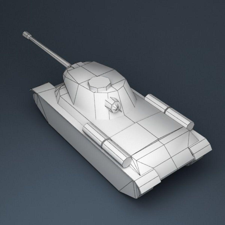 坦克低聚 royalty-free 3d model - Preview no. 8