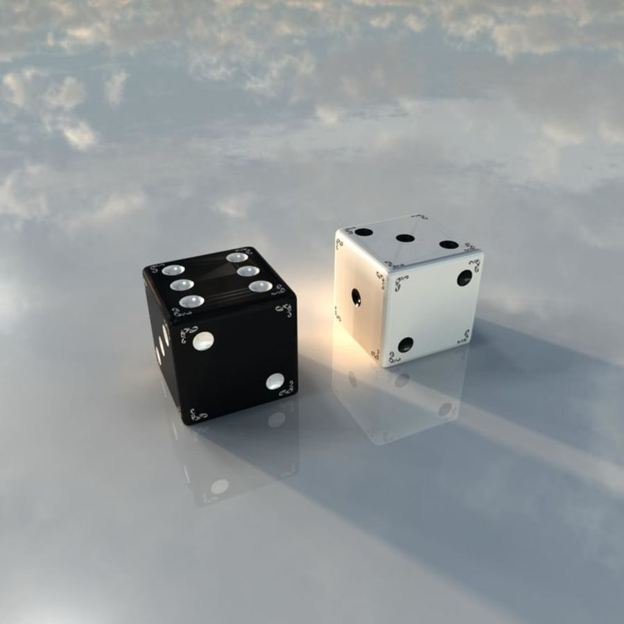 Dices royalty-free 3d model - Preview no. 3