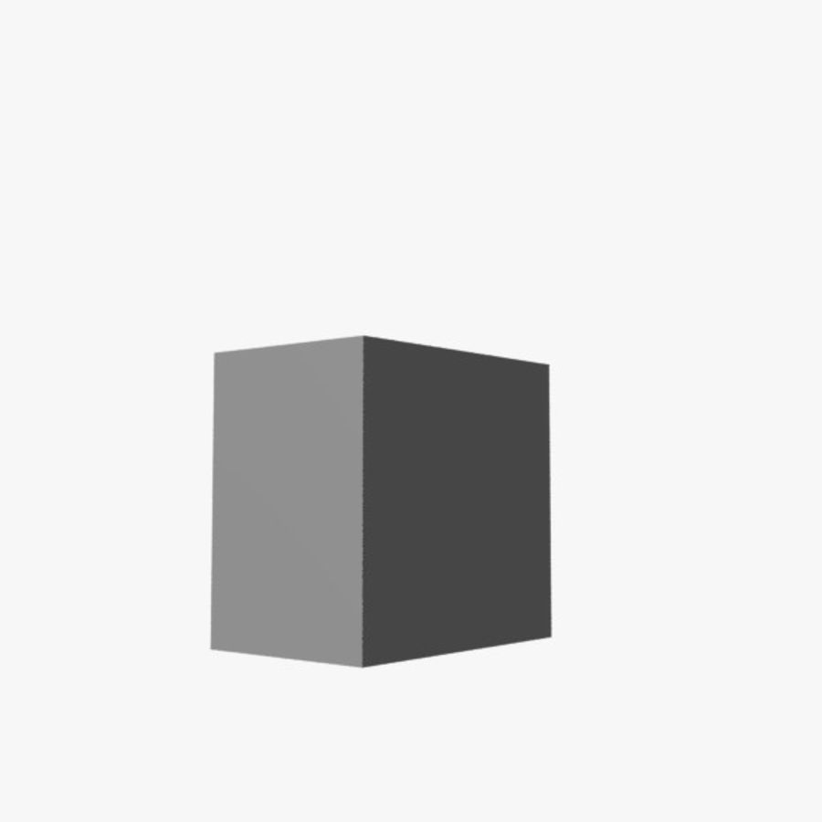 Cube royalty-free 3d model - Preview no. 1