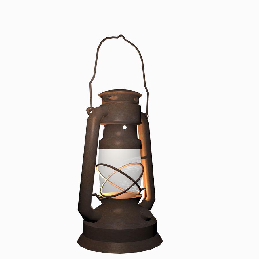 Öllaternenlampe Old Retro Vintage royalty-free 3d model - Preview no. 3