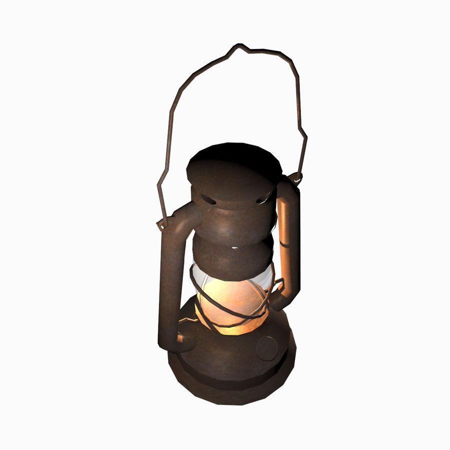 Öllaternenlampe Old Retro Vintage royalty-free 3d model - Preview no. 4
