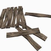 Pranchas de madeira velhas - baixo-poli 3d model