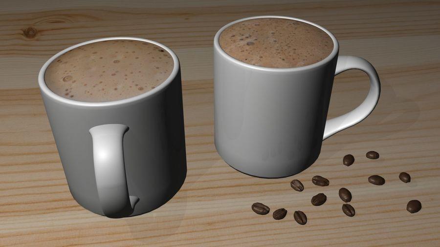 Kahve Fincanı, Cappuccino veya Sıcak Çikolata royalty-free 3d model - Preview no. 1