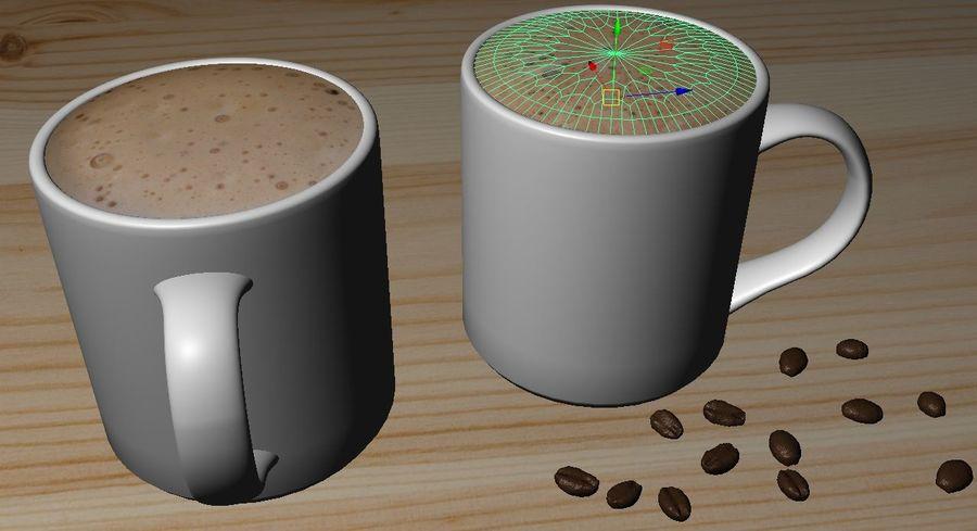 Kahve Fincanı, Cappuccino veya Sıcak Çikolata royalty-free 3d model - Preview no. 2