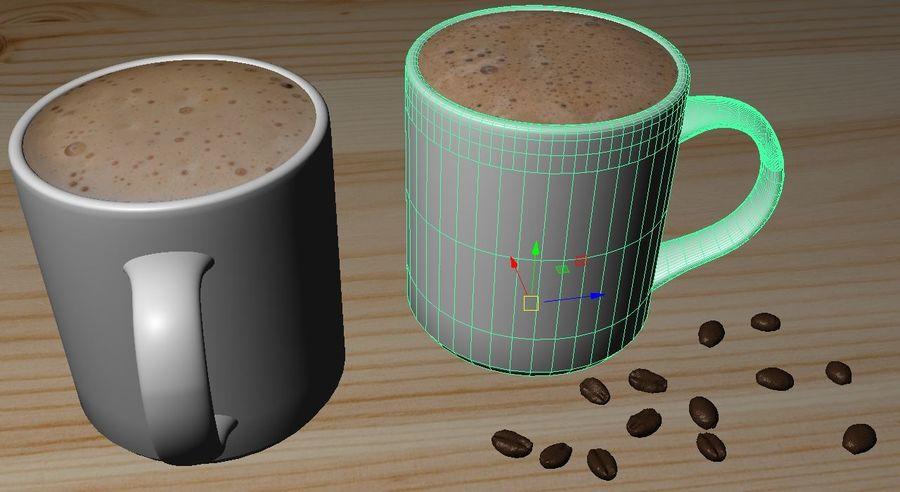 Kahve Fincanı, Cappuccino veya Sıcak Çikolata royalty-free 3d model - Preview no. 3
