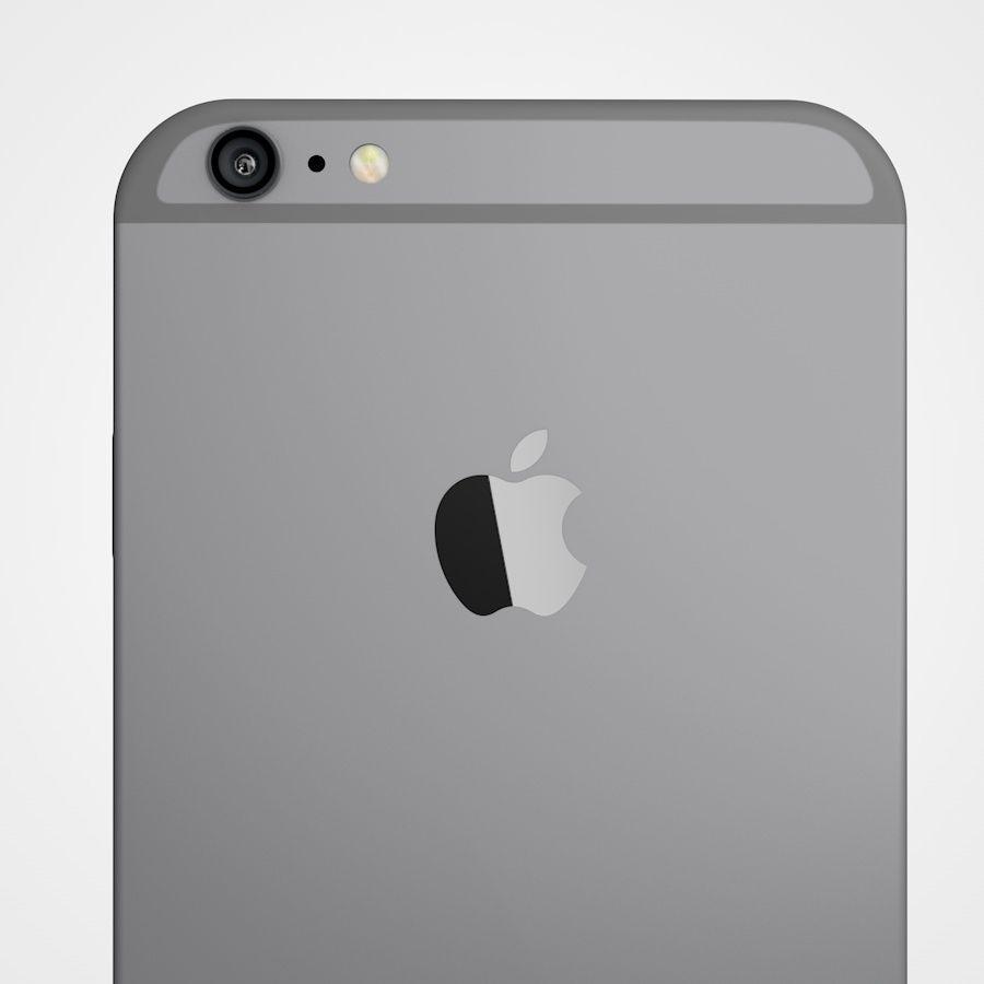 Apple iPhone 6 e 6S Espaço Cinzento royalty-free 3d model - Preview no. 8