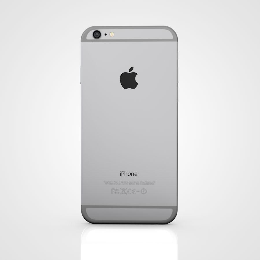 Apple iPhone 6 e 6S Espaço Cinzento royalty-free 3d model - Preview no. 7