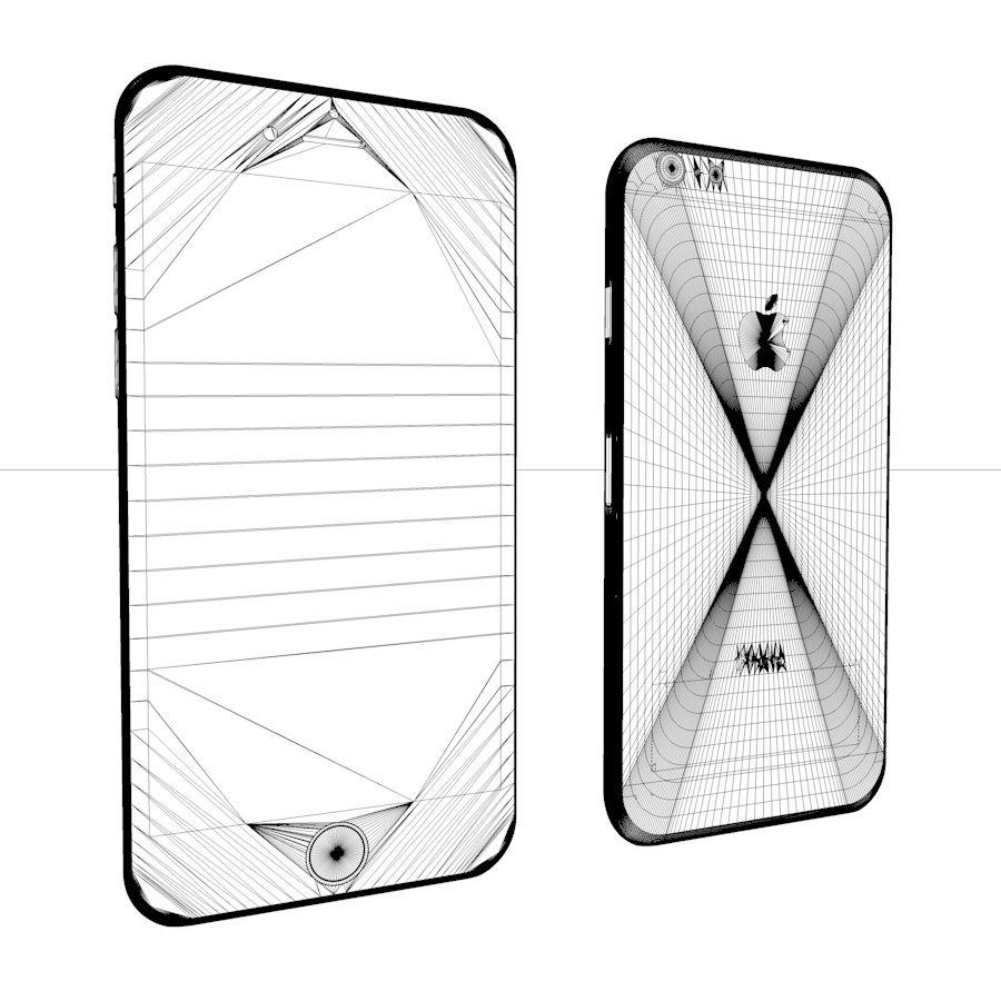Apple iPhone 6 e 6S Espaço Cinzento royalty-free 3d model - Preview no. 1