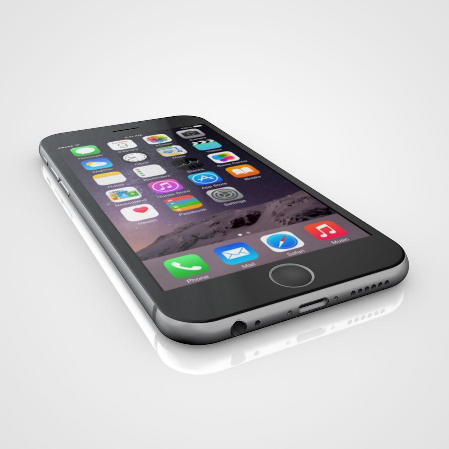 Apple iPhone 6 e 6S Espaço Cinzento royalty-free 3d model - Preview no. 5