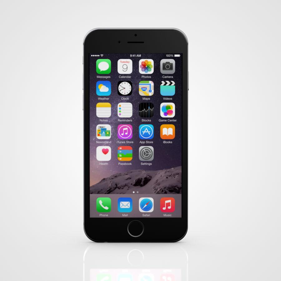 Apple iPhone 6 e 6S Espaço Cinzento royalty-free 3d model - Preview no. 4