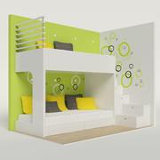 Łóżko piętrowe 3d model