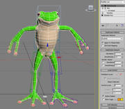 Cartoon Rigged Frog 3d model