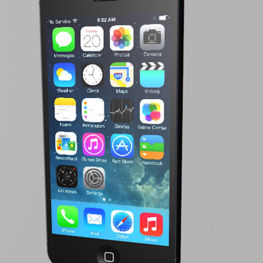 Apple iPhone 5 C4D royalty-free 3d model - Preview no. 4