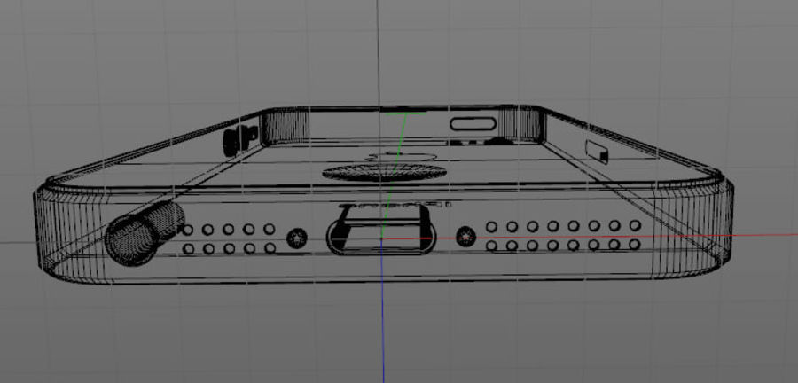 Apple iPhone 5 C4D royalty-free 3d model - Preview no. 7