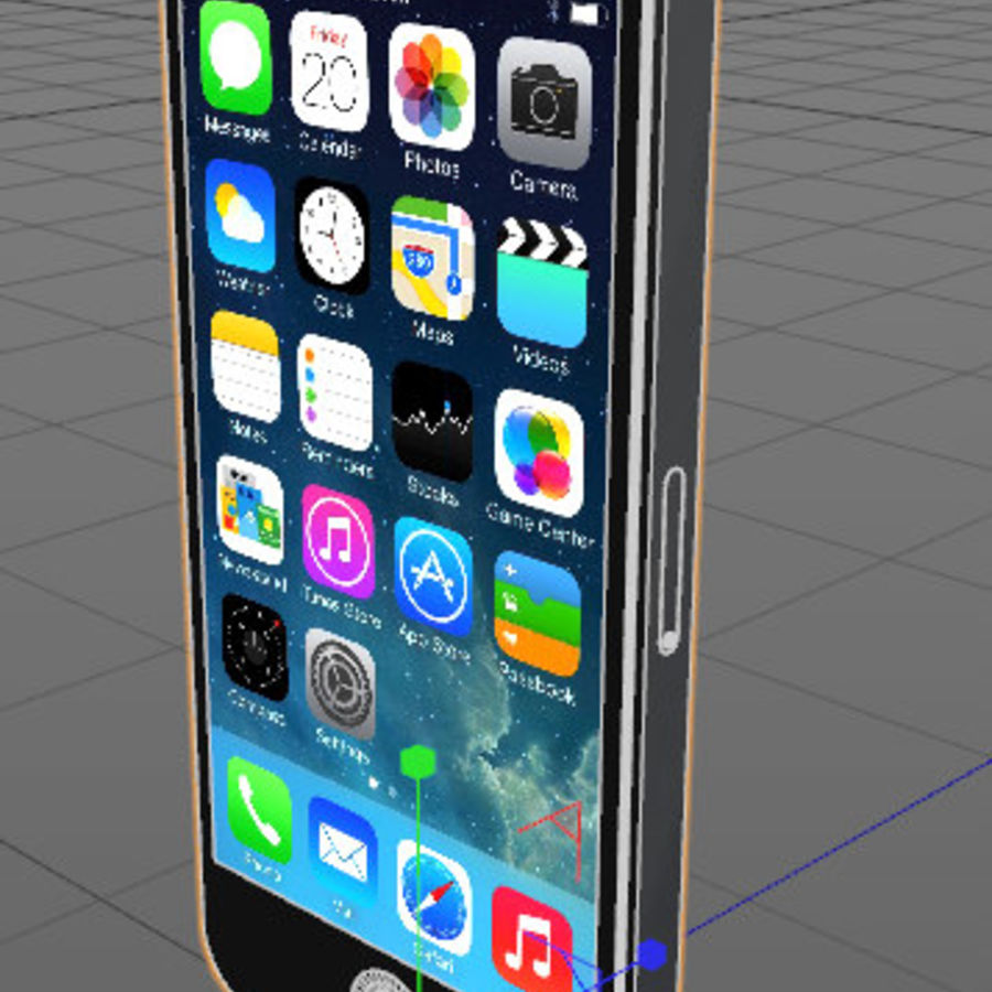 Apple iPhone 5 C4D royalty-free 3d model - Preview no. 2