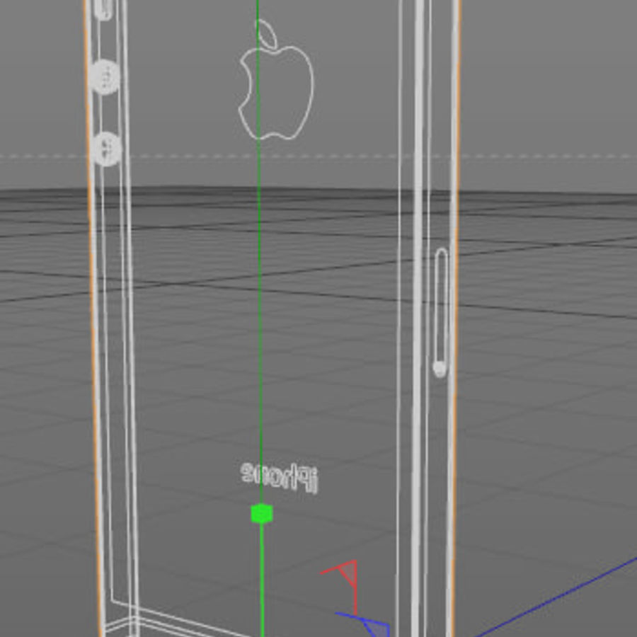 Apple iPhone 5 C4D royalty-free 3d model - Preview no. 5