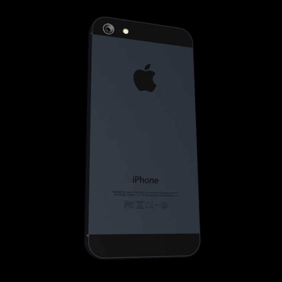Apple iPhone 5 C4D royalty-free 3d model - Preview no. 3