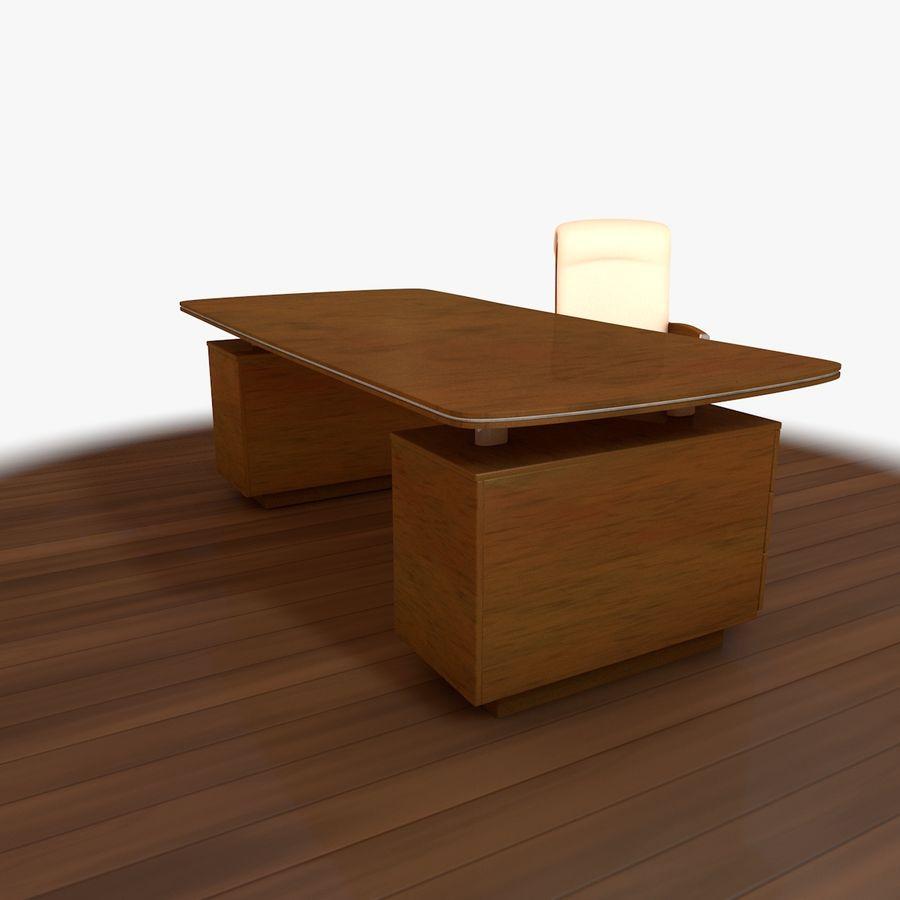 Computer Stuhl und Schreibtisch royalty-free 3d model - Preview no. 3