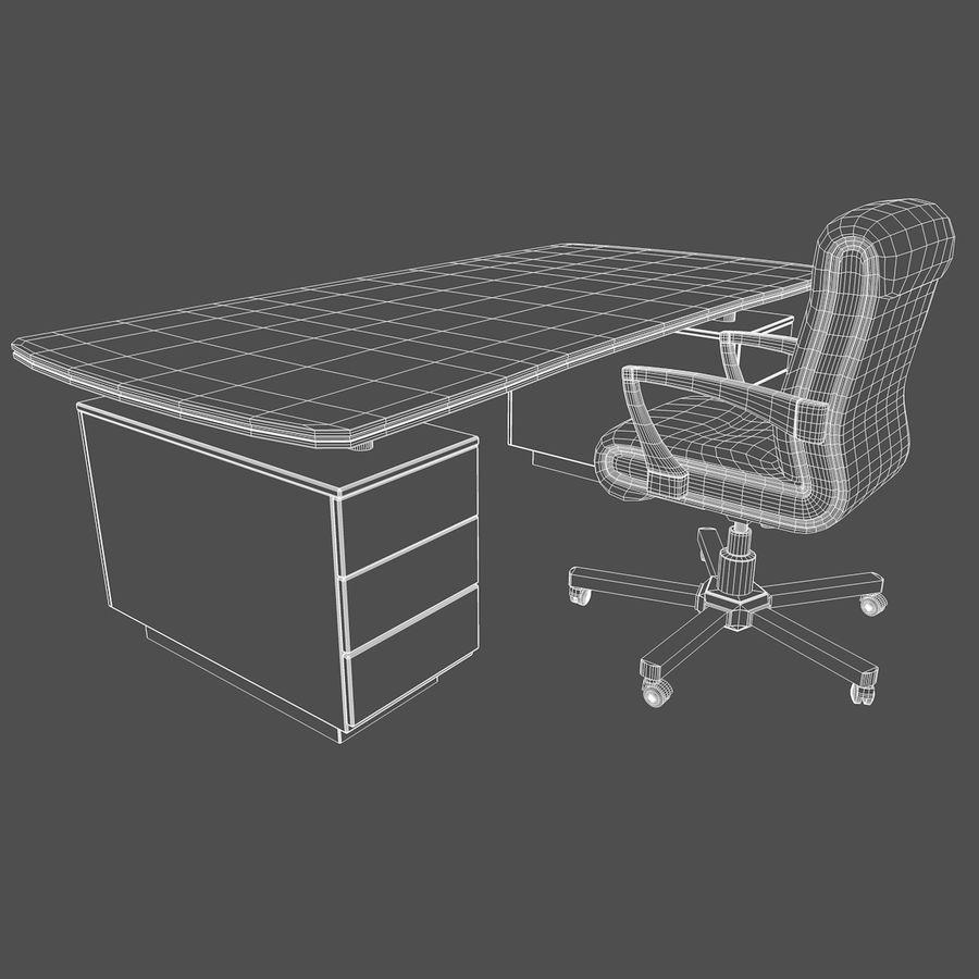Computer Stuhl und Schreibtisch royalty-free 3d model - Preview no. 2