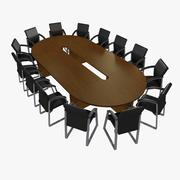 Meeting Desk 3d model
