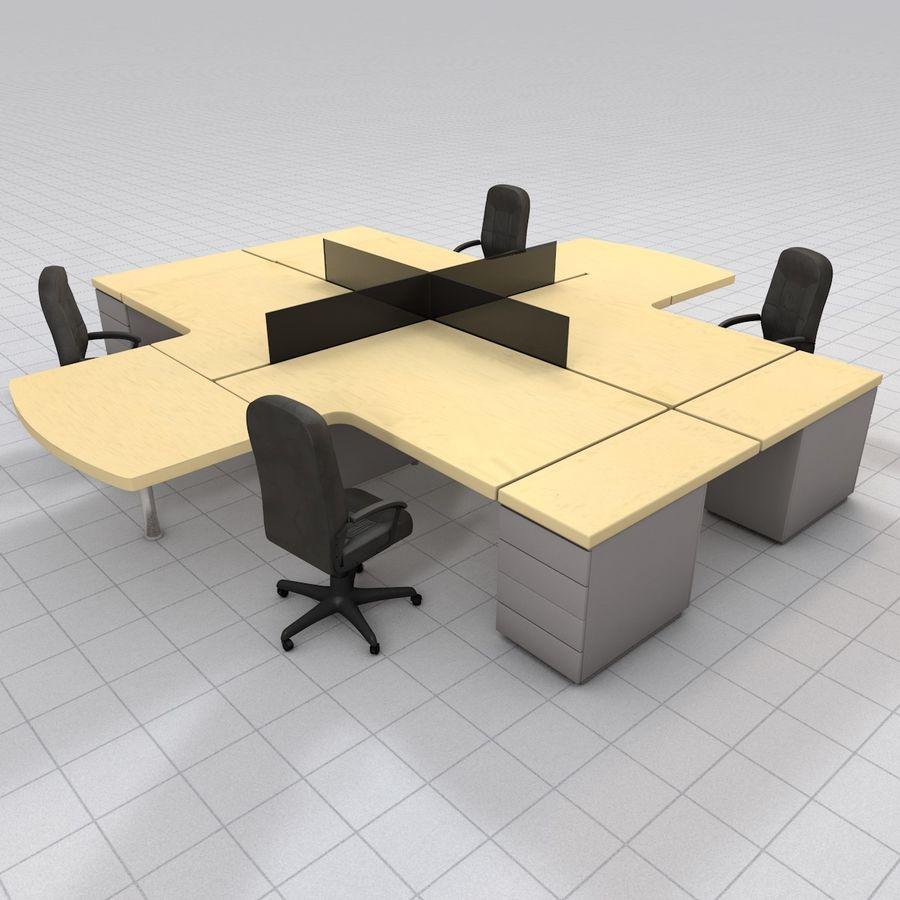 Workstation Desk royalty-free 3d model - Preview no. 2