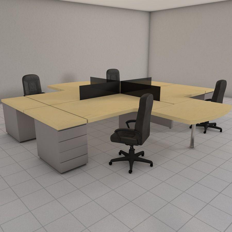 Workstation Desk royalty-free 3d model - Preview no. 5