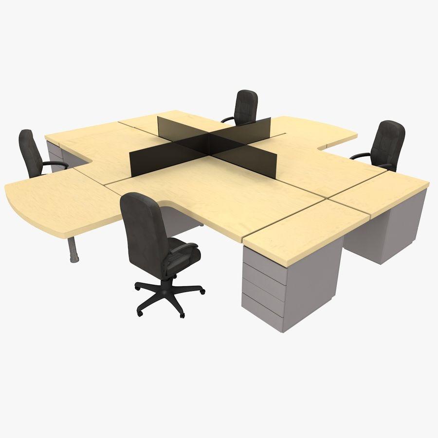 Workstation Desk royalty-free 3d model - Preview no. 1