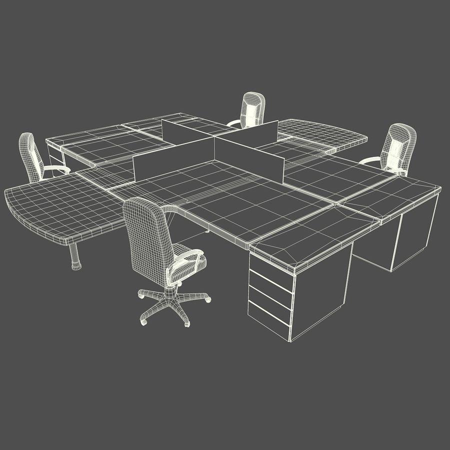 Workstation Desk royalty-free 3d model - Preview no. 4