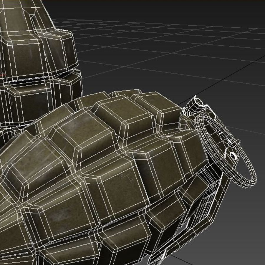 Grenade royalty-free 3d model - Preview no. 13