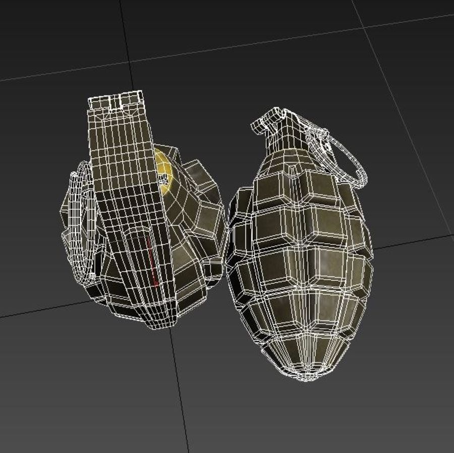 Grenade royalty-free 3d model - Preview no. 14