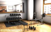 Domowa siłownia - bezpłatne ciężary 3d model