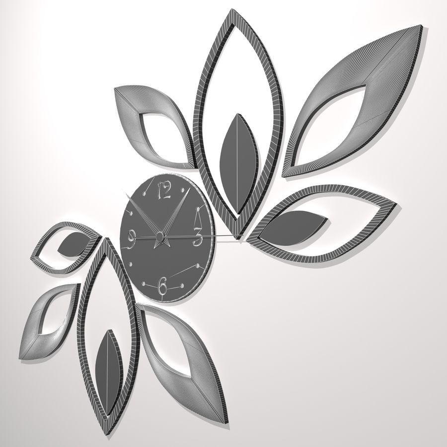 Wall Clock royalty-free 3d model - Preview no. 8