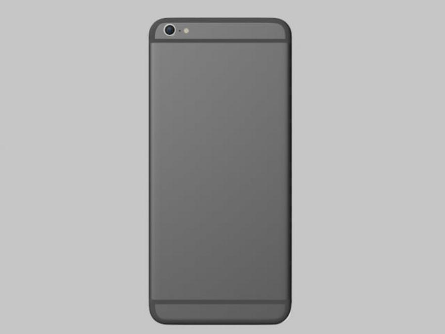 苹果手机6 royalty-free 3d model - Preview no. 2