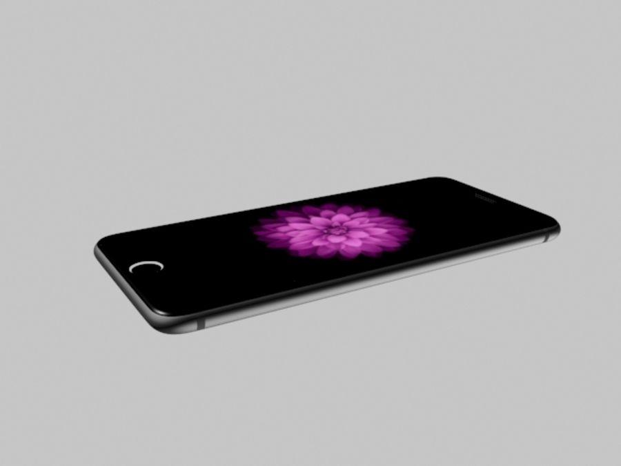 苹果手机6 royalty-free 3d model - Preview no. 7