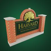 Segno di Harvard 3d model