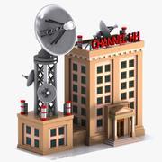 Cartoon Television Station 3d model