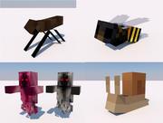 Caracol, Abelha, Mosca, Aparelho Minecraft 3d model