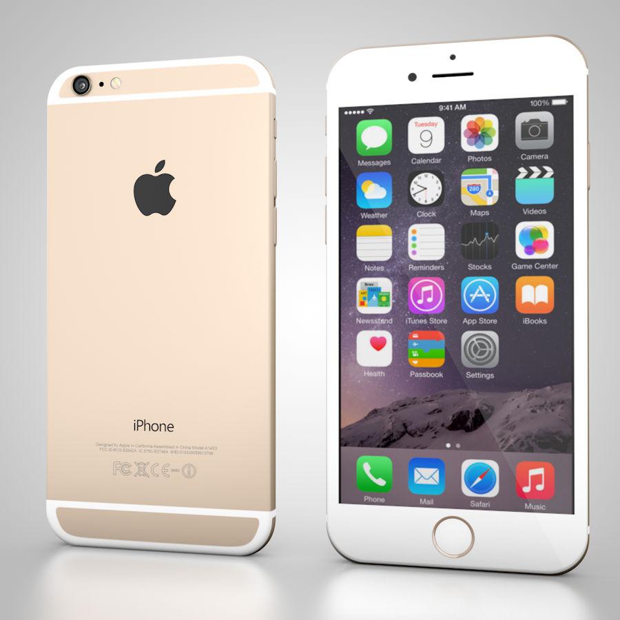 Apple iPhone 6 및 6S 블랙 화이트 골드 royalty-free 3d model - Preview no. 3