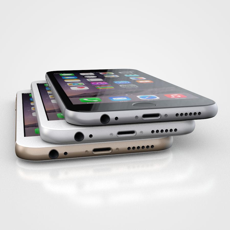 Apple iPhone 6 및 6S 블랙 화이트 골드 royalty-free 3d model - Preview no. 1