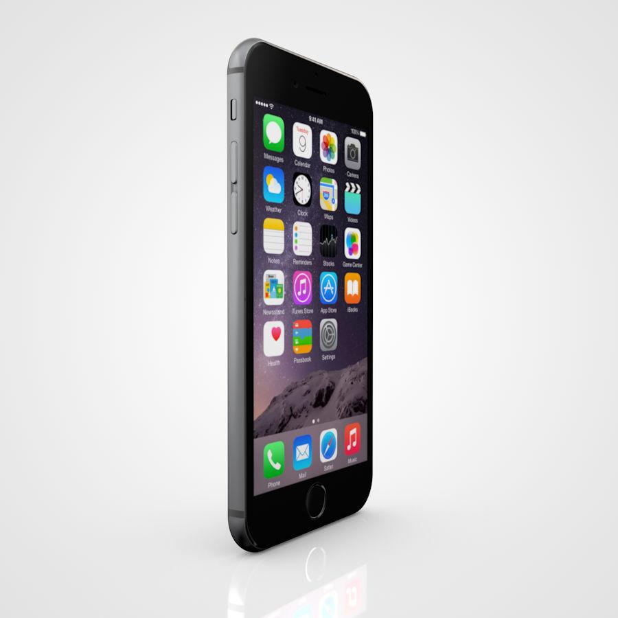 Apple iPhone 6 및 6S 블랙 화이트 골드 royalty-free 3d model - Preview no. 8