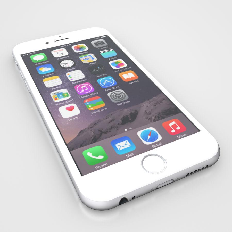 Apple iPhone 6 및 6S 블랙 화이트 골드 royalty-free 3d model - Preview no. 14