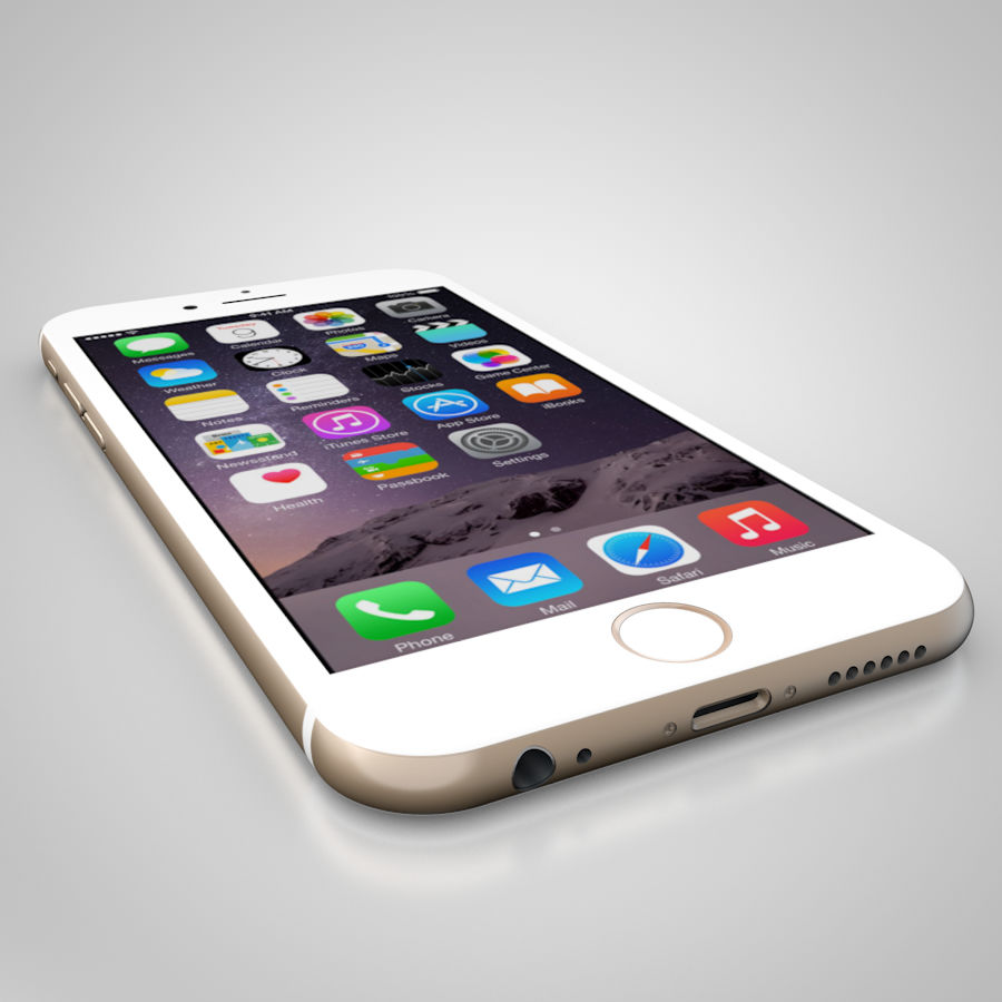 Apple iPhone 6 및 6S 블랙 화이트 골드 royalty-free 3d model - Preview no. 12