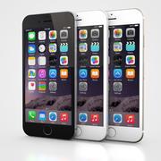 Apple iPhone 6 en 6S Zwart Wit Goud 3d model