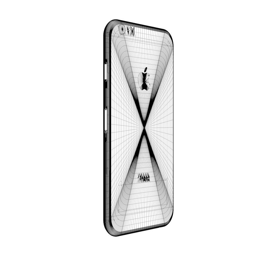 Apple iPhone 6 및 6S 블랙 화이트 골드 royalty-free 3d model - Preview no. 17